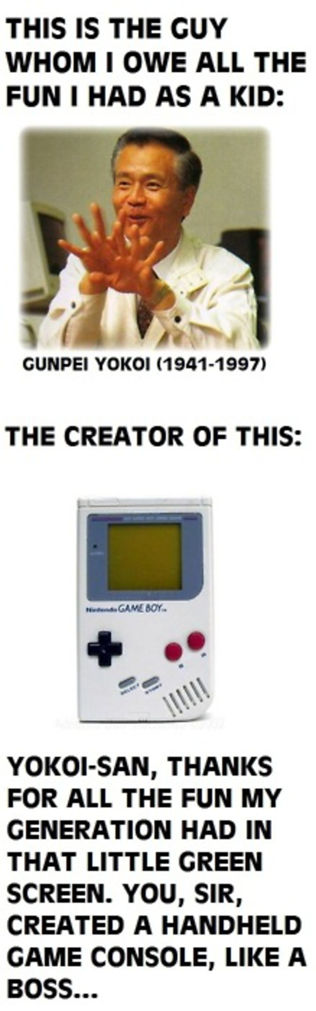Promoted Blog Gunpei Yokoi Remembered