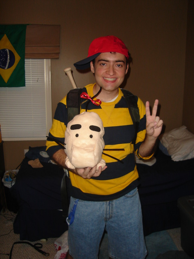 had i known about the ness kit from fangamer i wouldve used that for my halloween costume instead i did this on my own