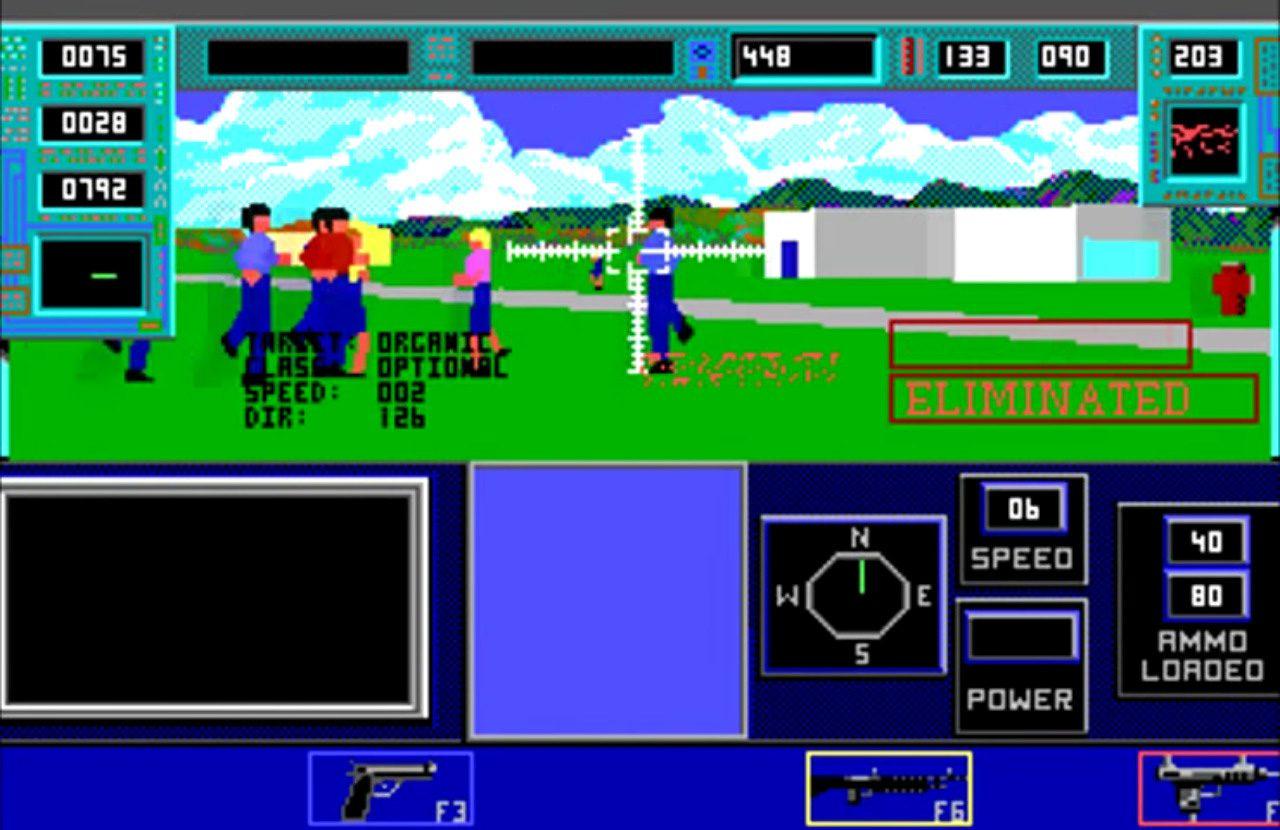 Bethesda Softwork's 1991 DOS game The Terminator.