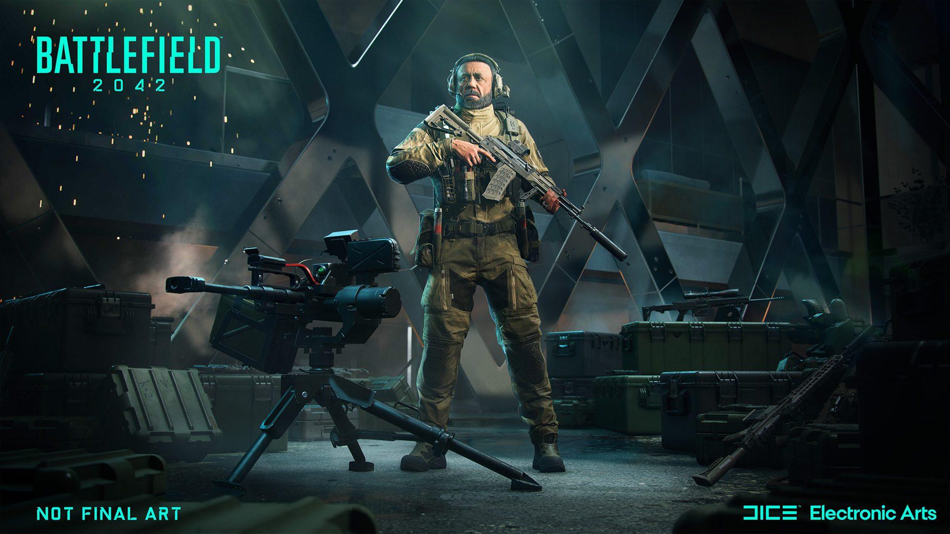 Boris is a sentry-toting engineer in Battlefield 2042