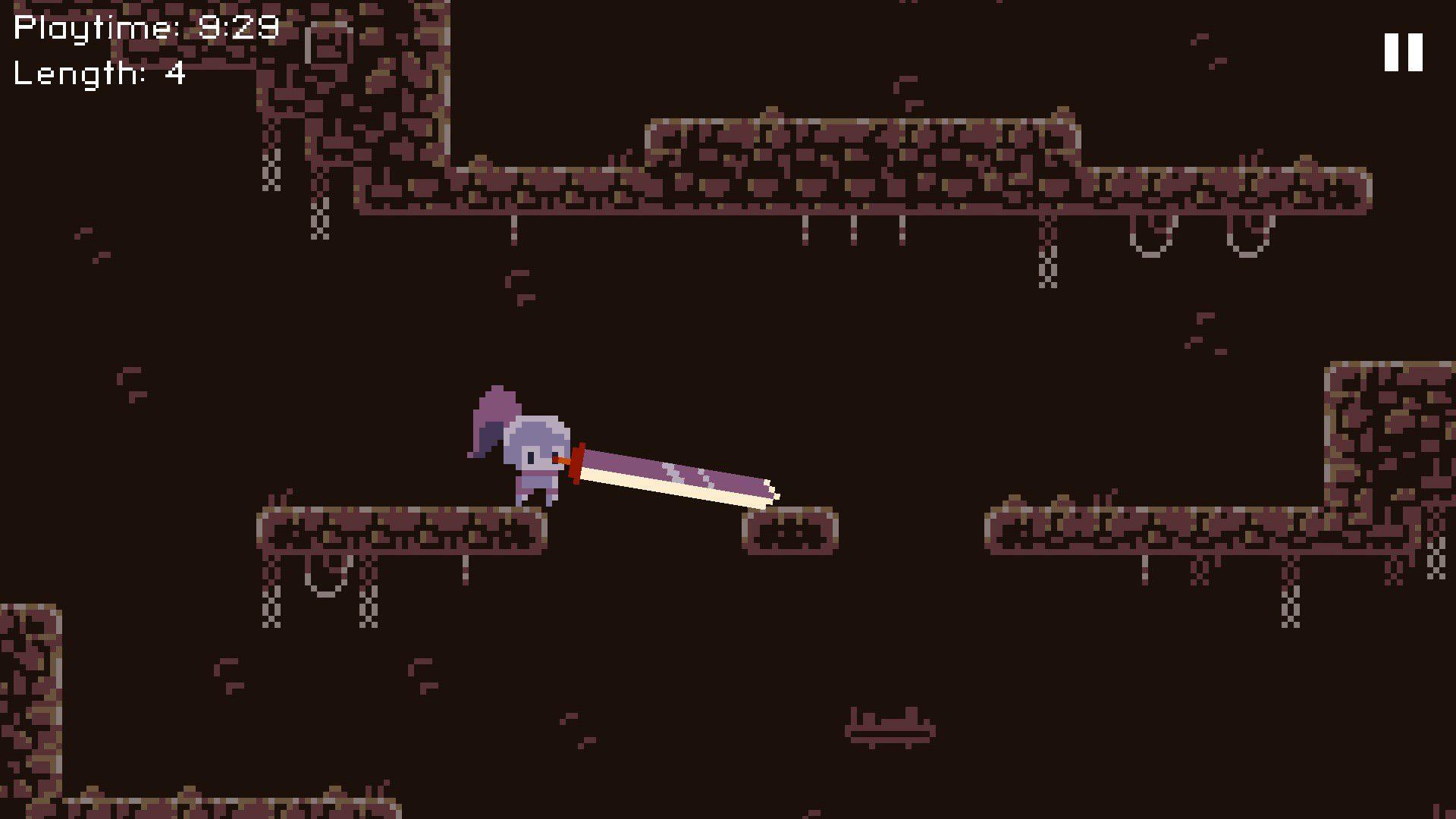 Teetering over a platform in Deepest Sword