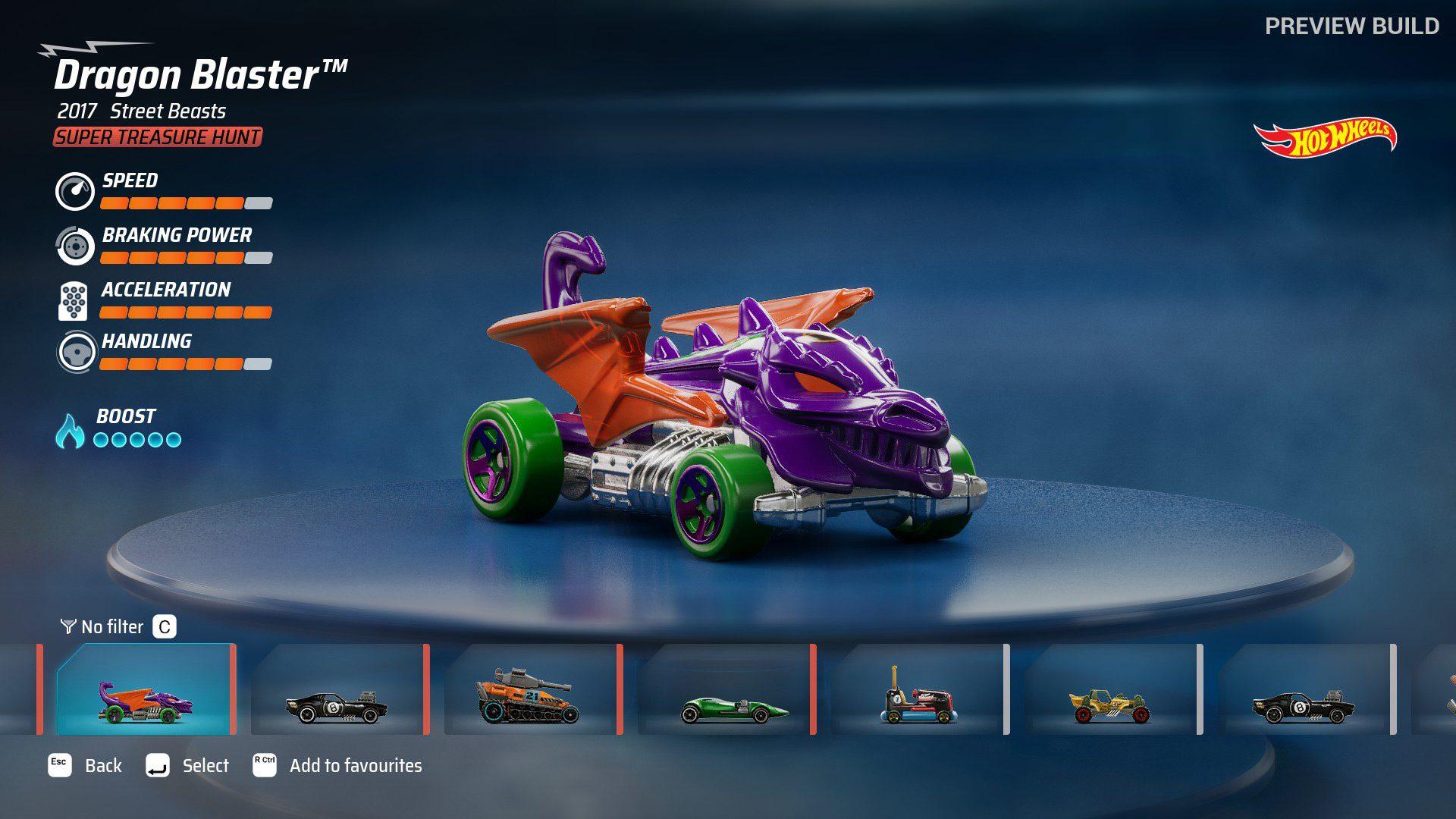 Dragon Blaster in Hot Wheels Unleashed