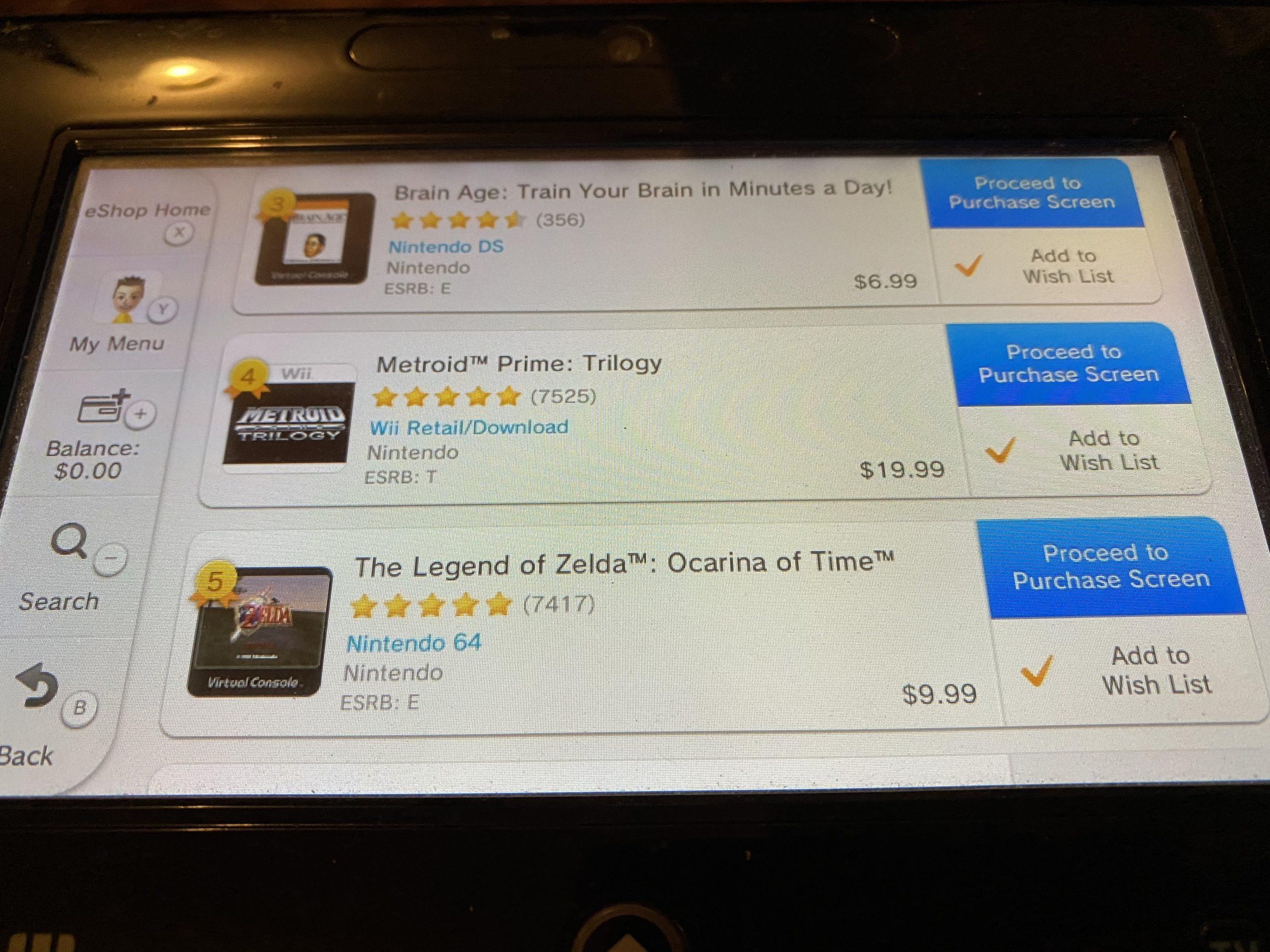 Metroid Wii U charts 2