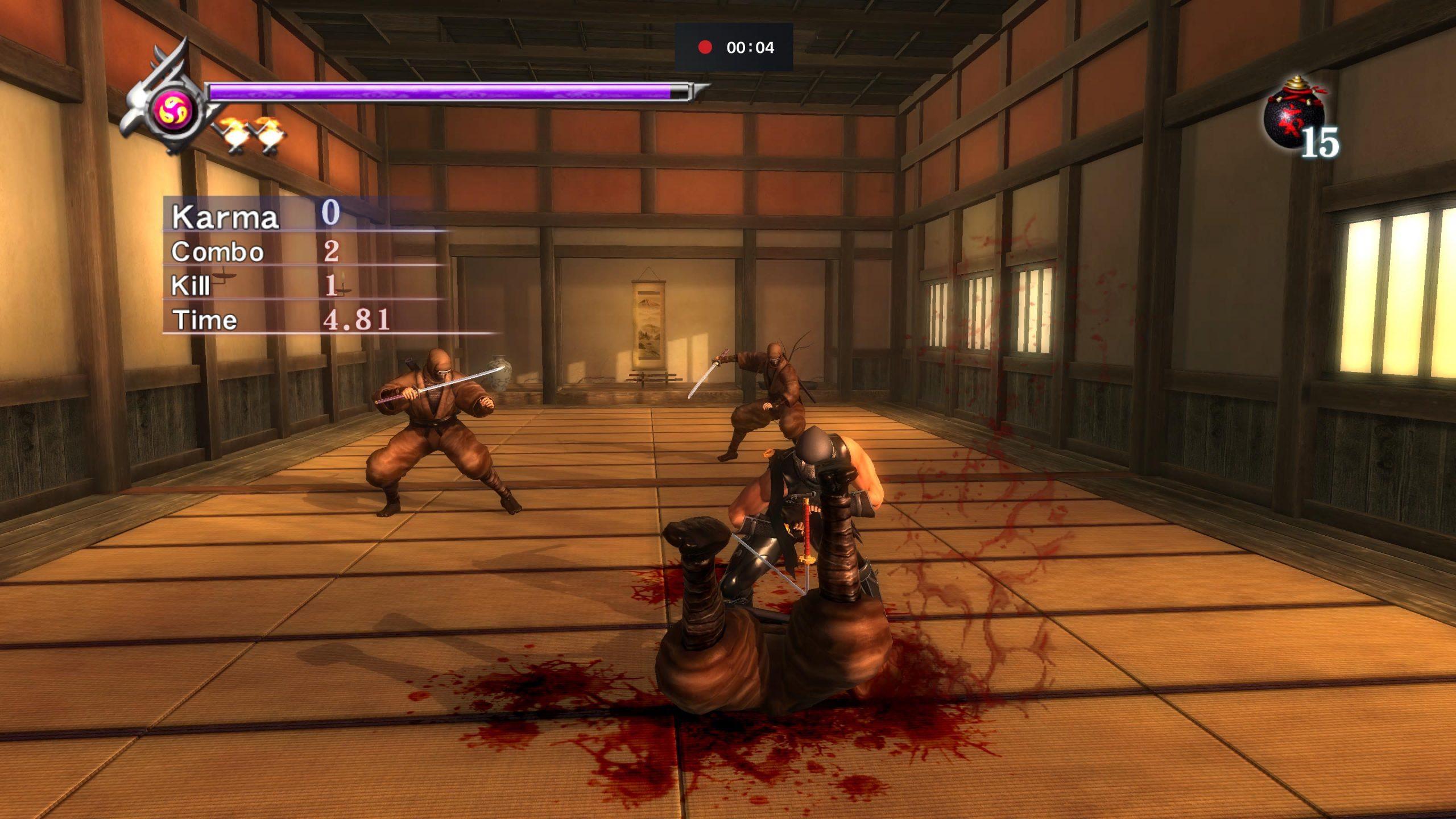 Stabbing a ninja in Ninja Gaiden: Master Collection