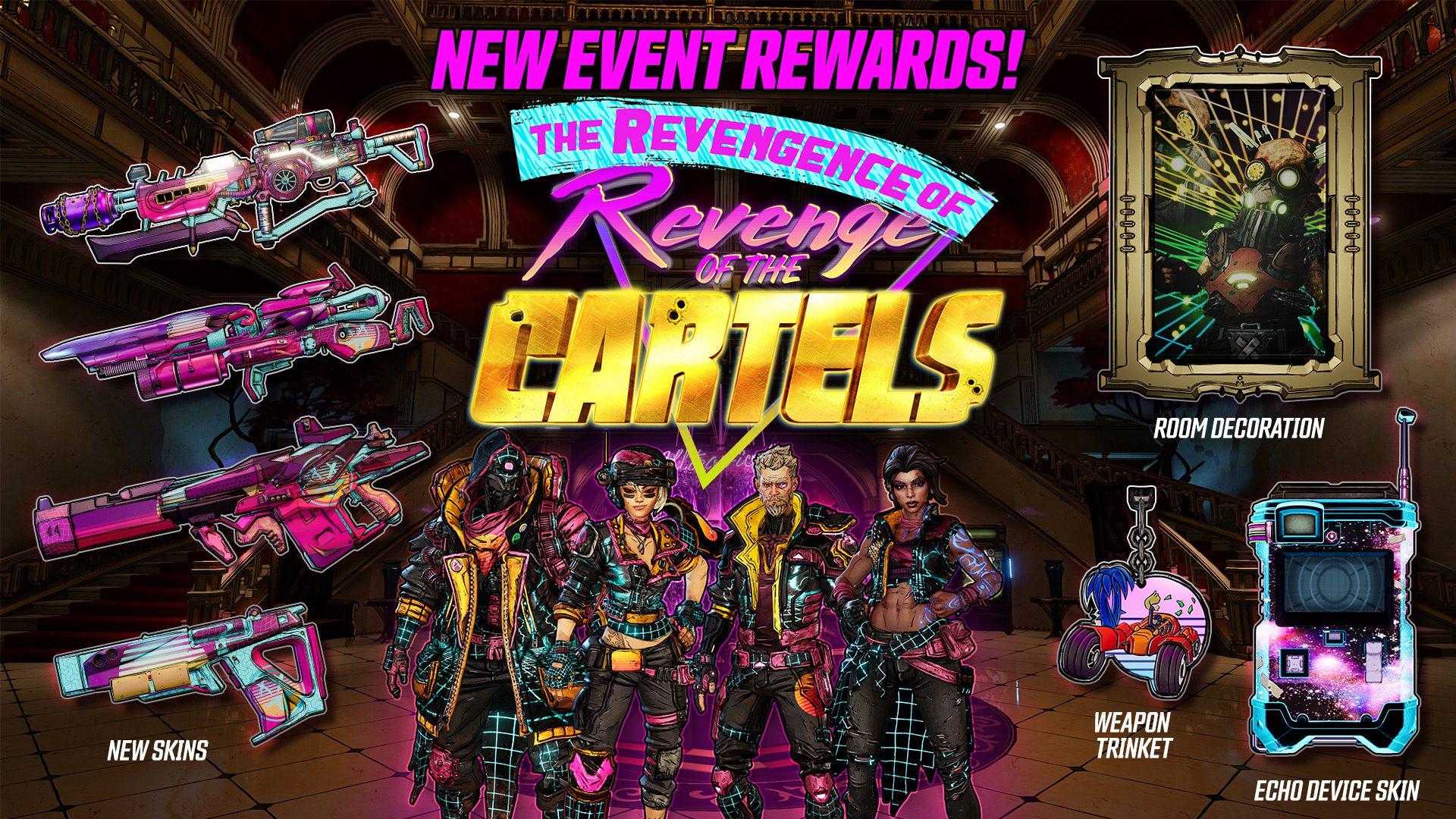 The cosmetic rewards for Revengence of the Revenge of the Cartels