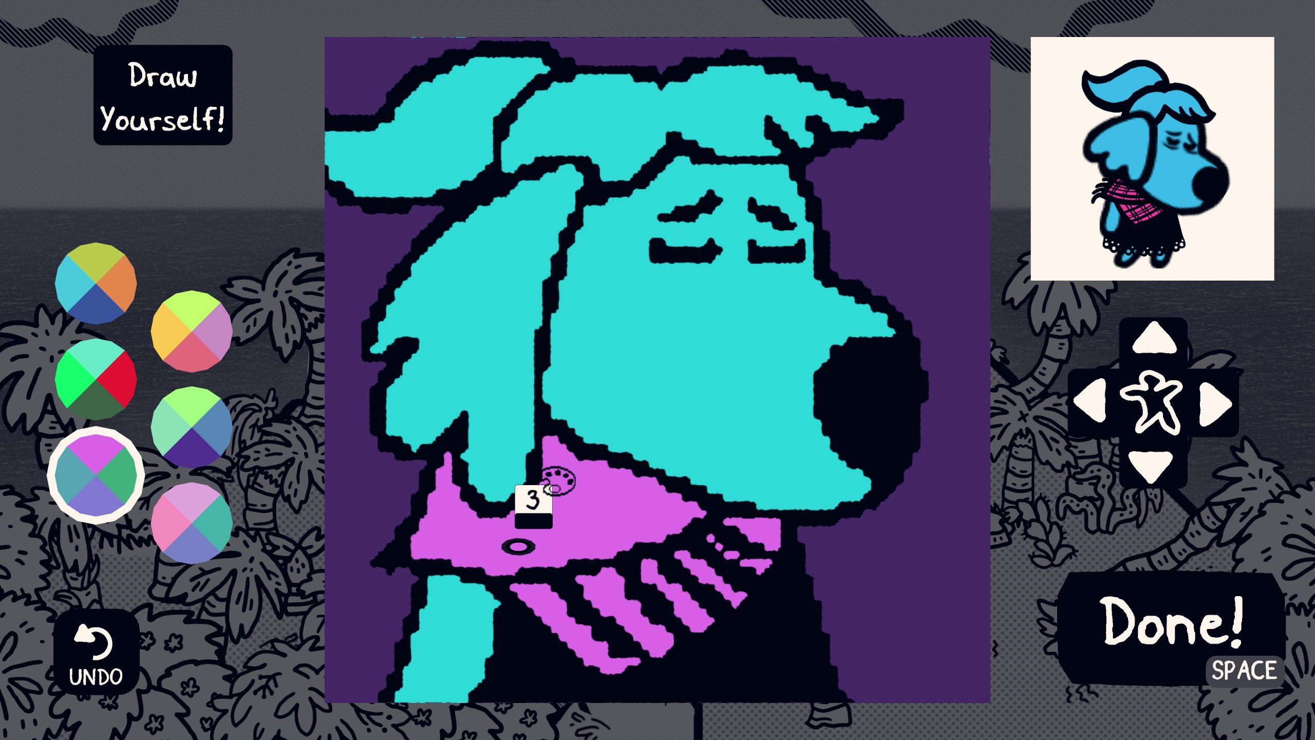 Chicory self portrait