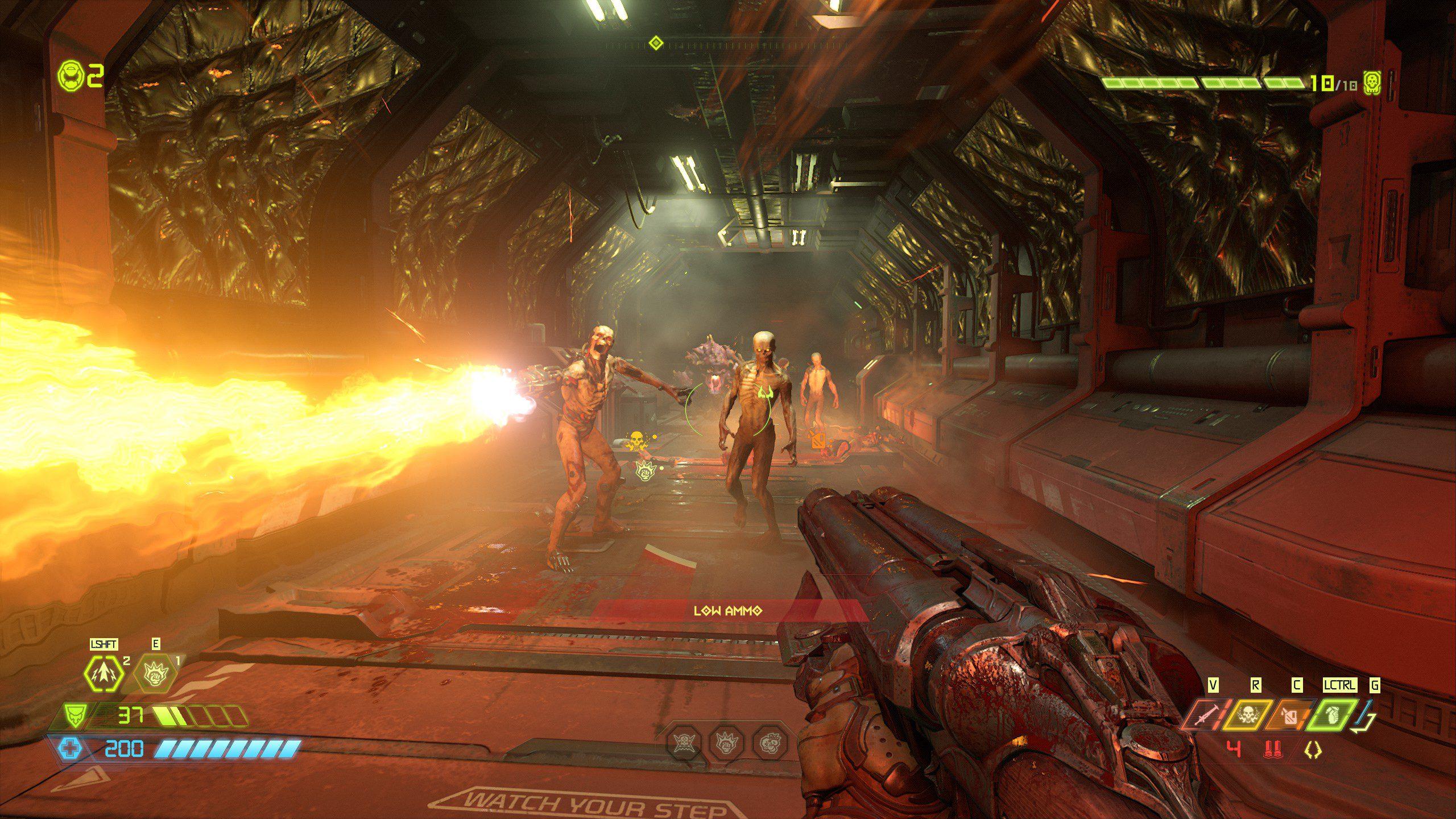 Doom Eternal Zombie with a Flamethrower