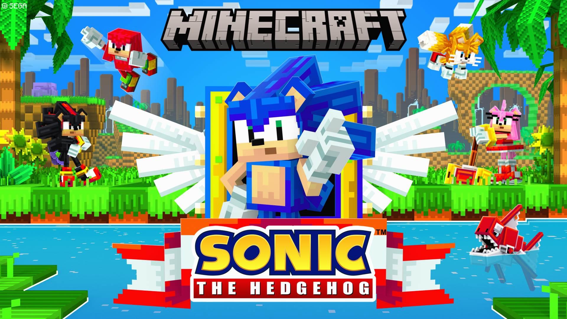 Sonic Minecraft DLC artwork