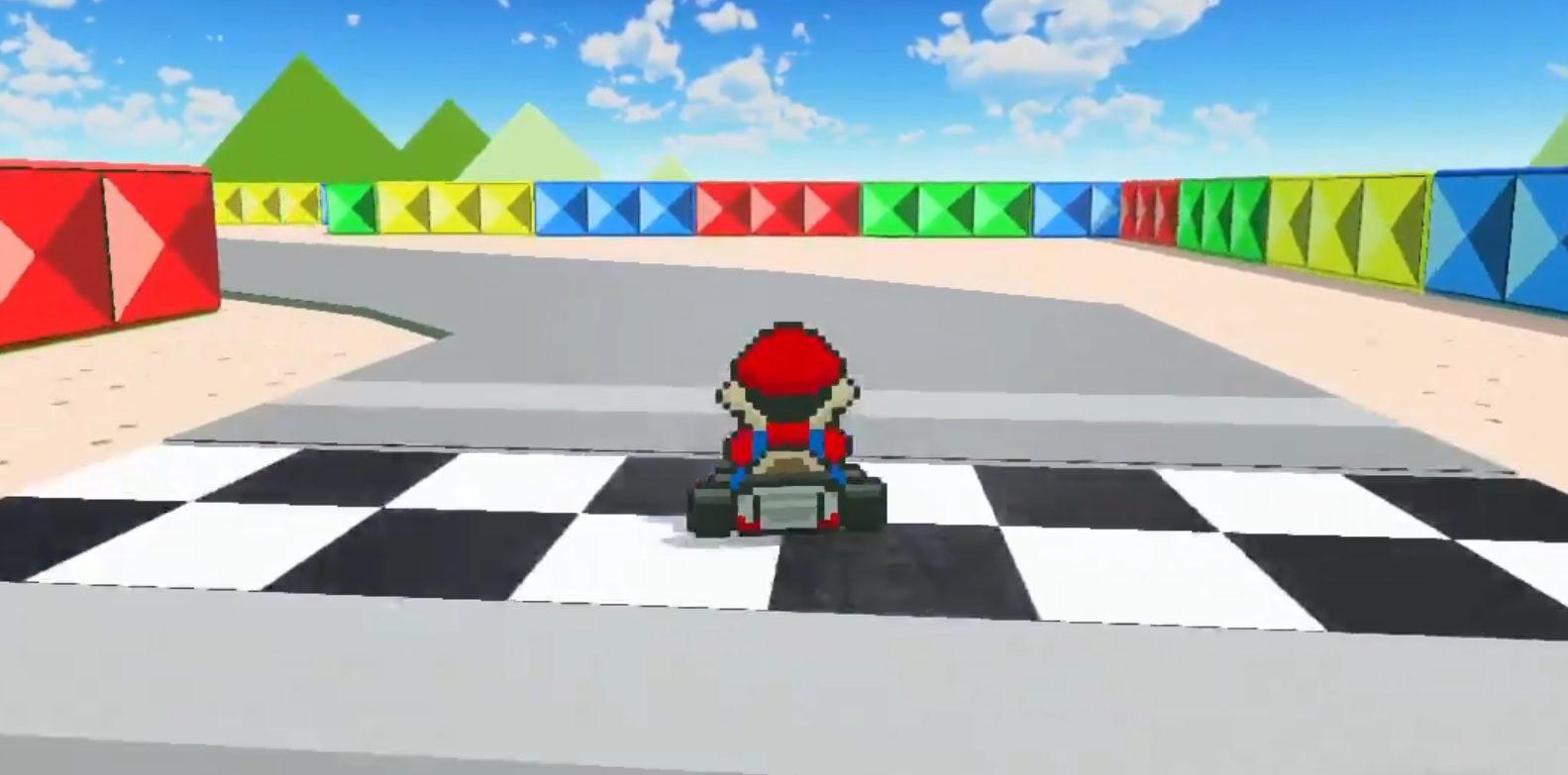 A recreation of Mario Kart in Game Builder Garage