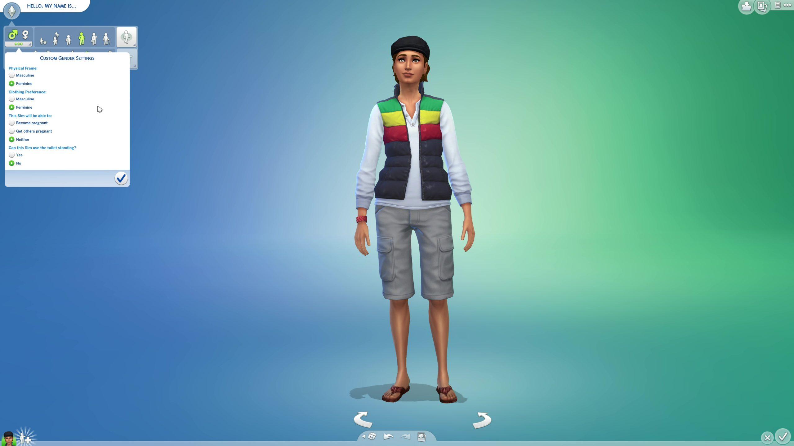 Sims 4 queer gender settings