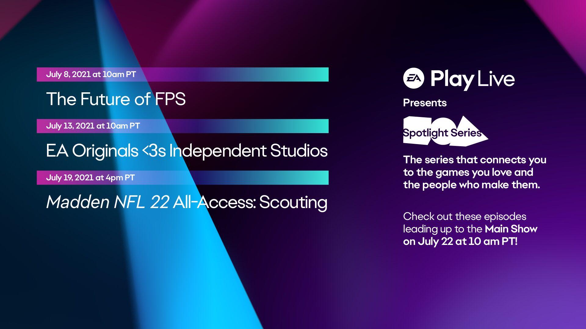 EA Play Live 2021 schedule