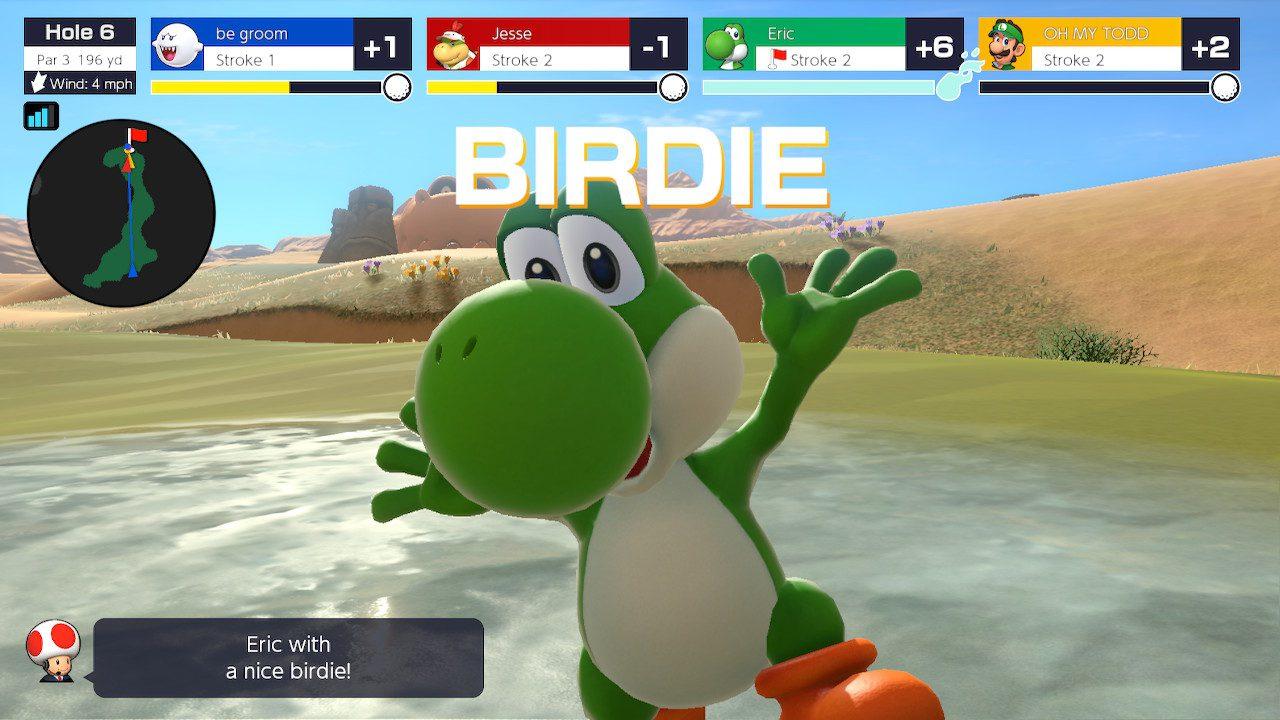 Yoshi in Mario Golf: Super Rush