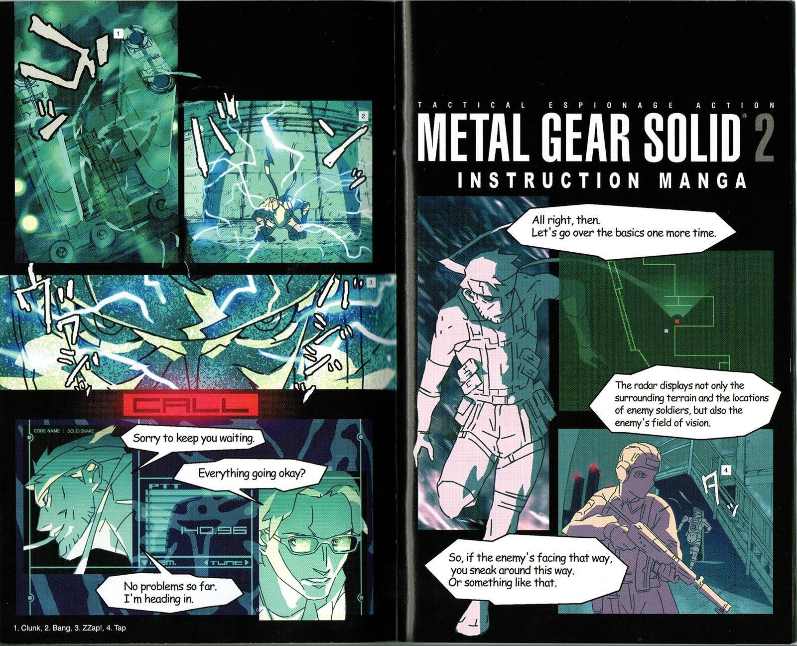 Metal Gear Solid 2 Instruction Manga
