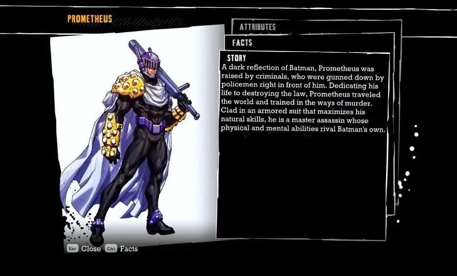 Prometheus lore in Batman: Arkham Asylum