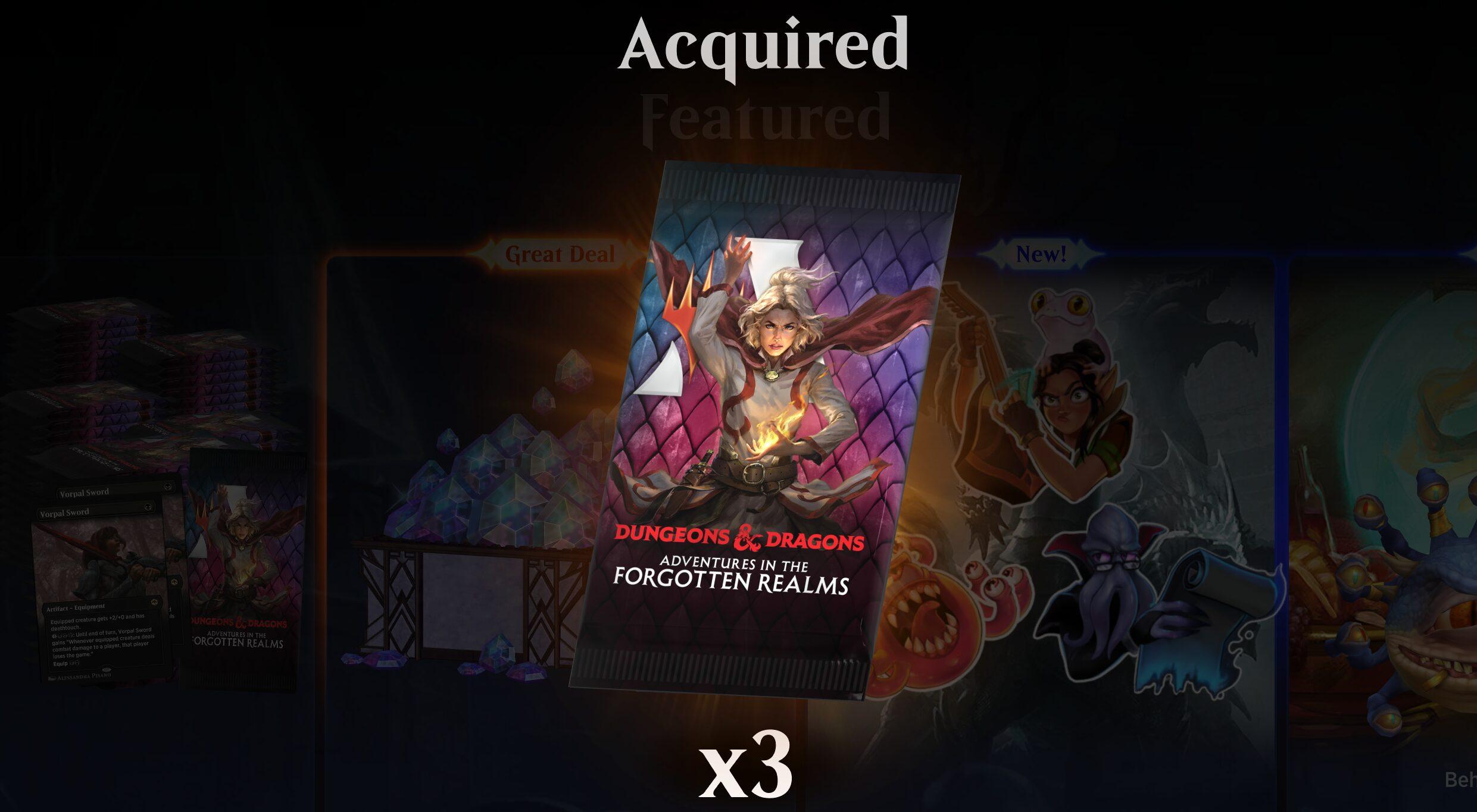 Magic: Arena free packs