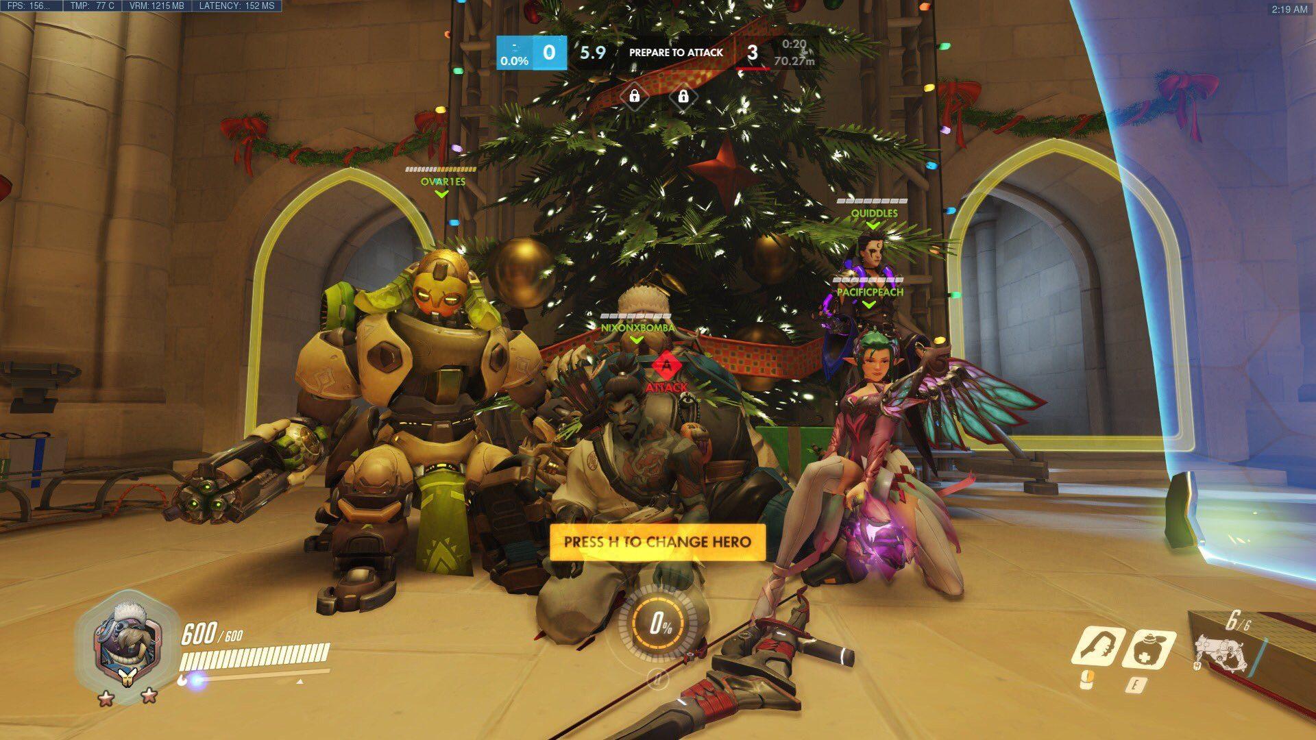 A festive celebration in Overwatch