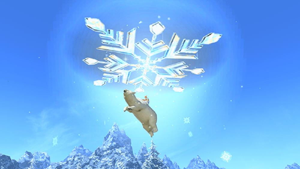 flying polar bear mount