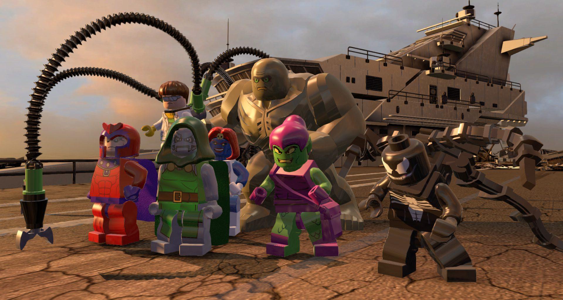 Green Goblin, Dr. Doom, Venom, and other villains in LEGO Marvel Super Heroes