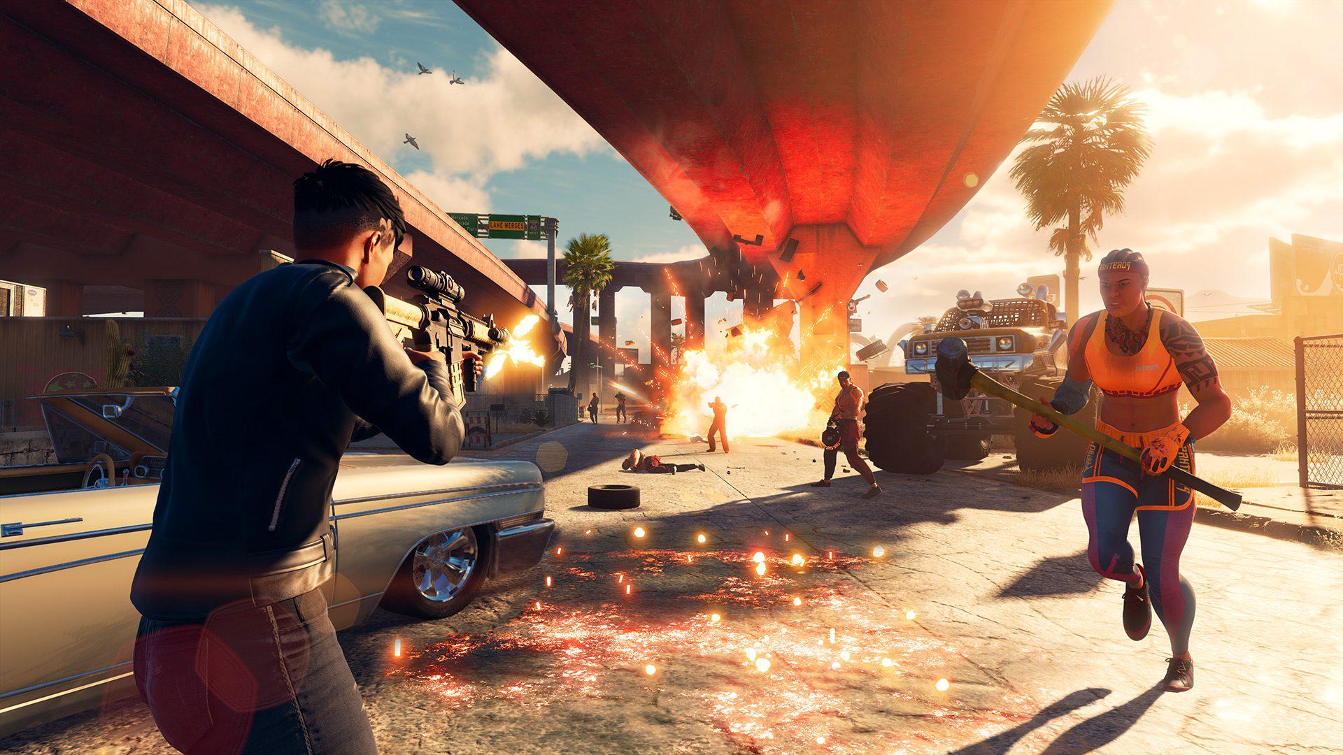 A shootout with the Los Panteros gang