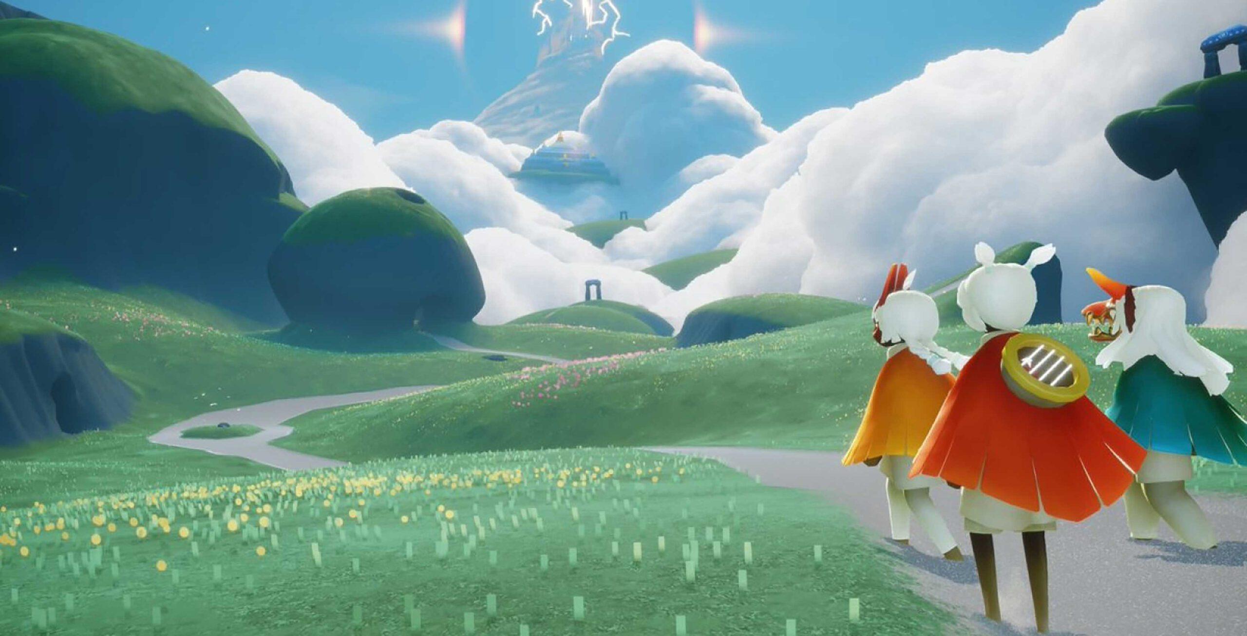 Rolling green hills in Sky: Children of the Light
