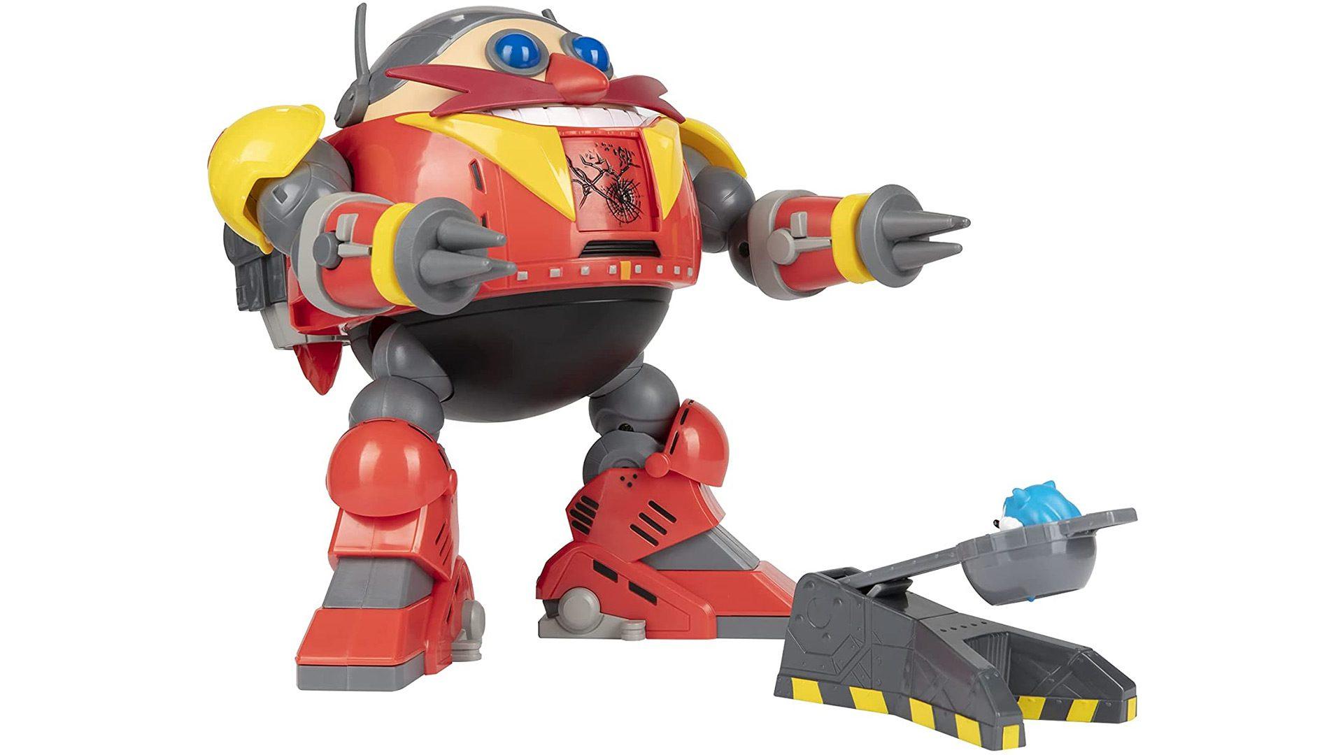 Giant Eggman Robot Battle Set with Sonic catapult