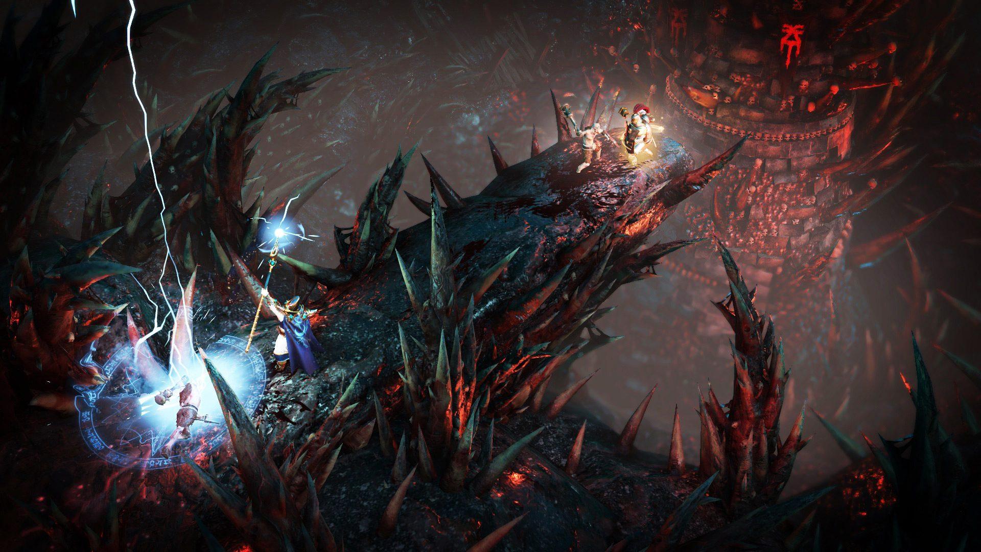Summoning lightning in Warhammer: Chaosbane