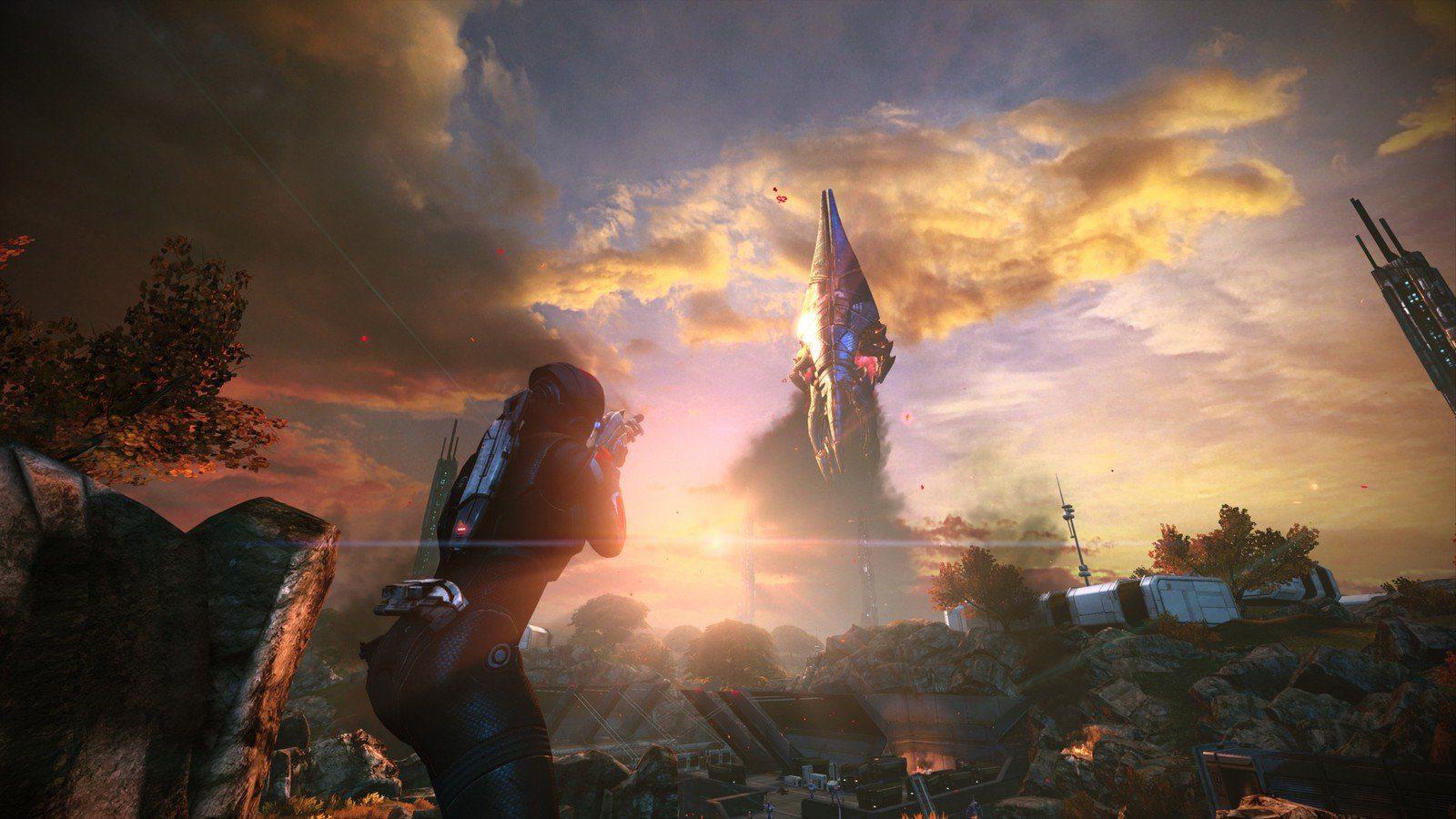 A Reaper taking off in Mass Effect