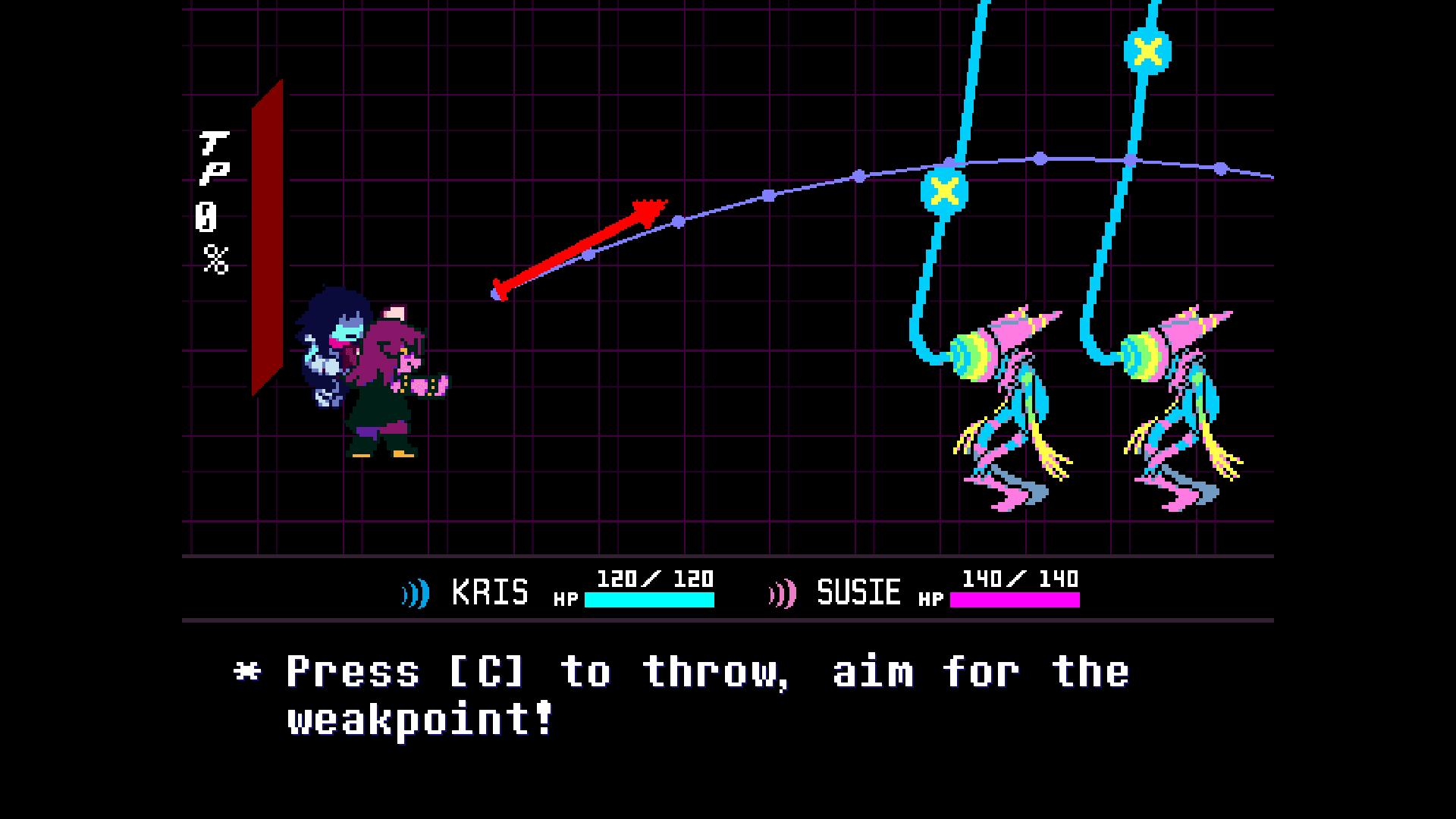 Deltarune Chapter 2 battle