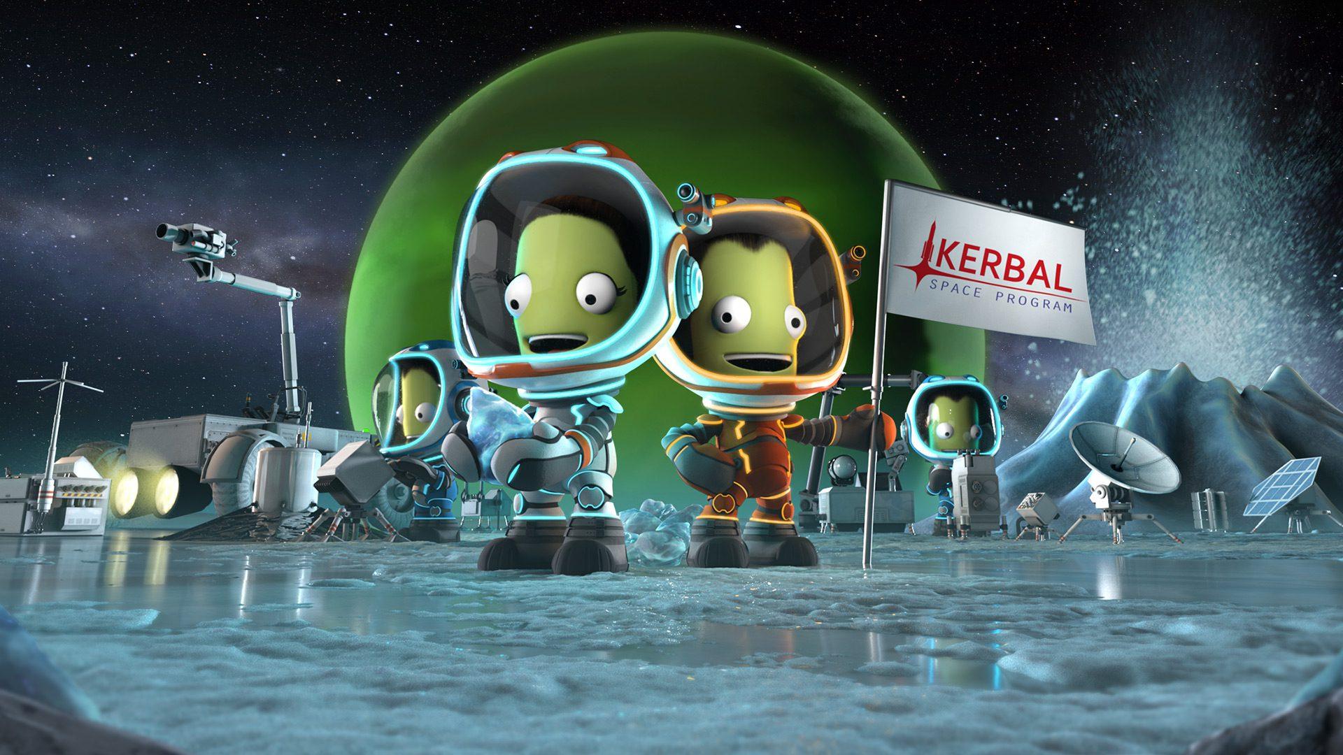 Kerbal Space Program Enhanced Edition PS5 and Xbox Series X/S key art