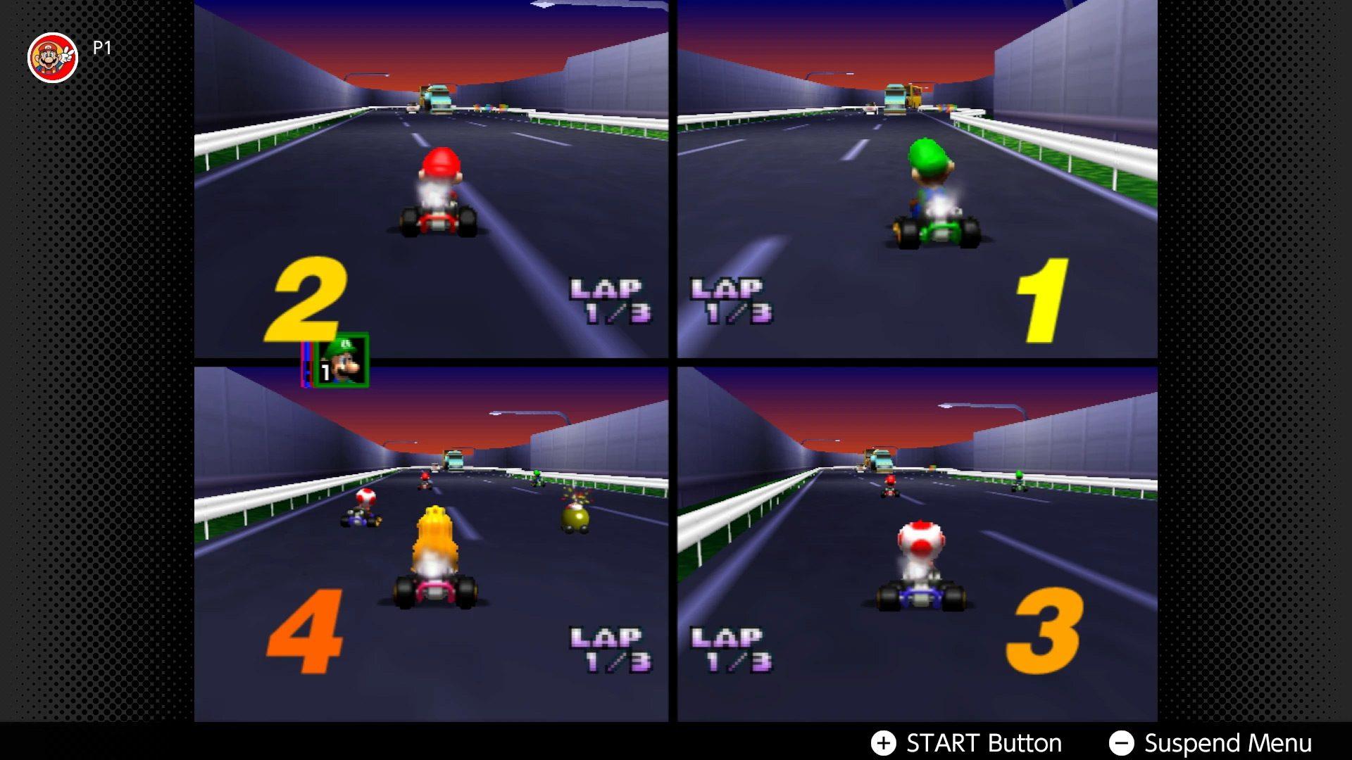 Mario Kart 64 online multiplayer with Nintendo Switch Online