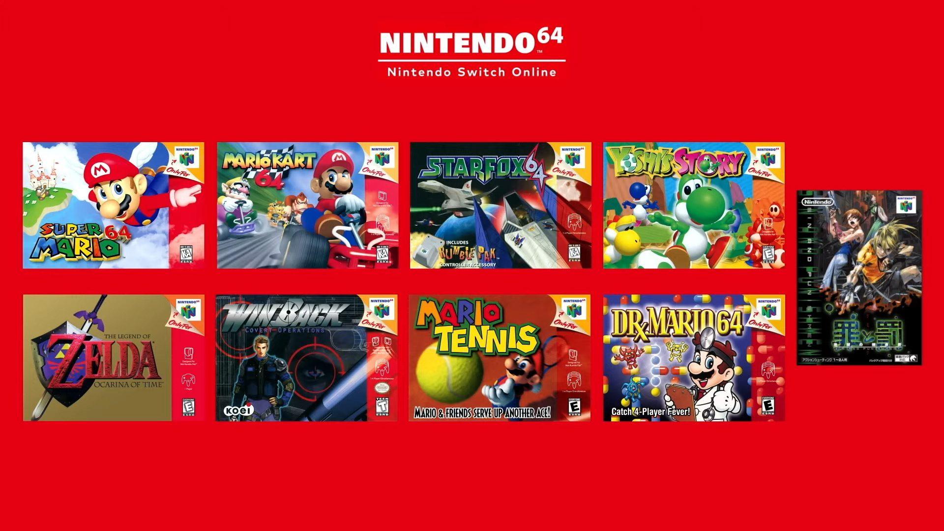 Nintendo Switch Online N64 games