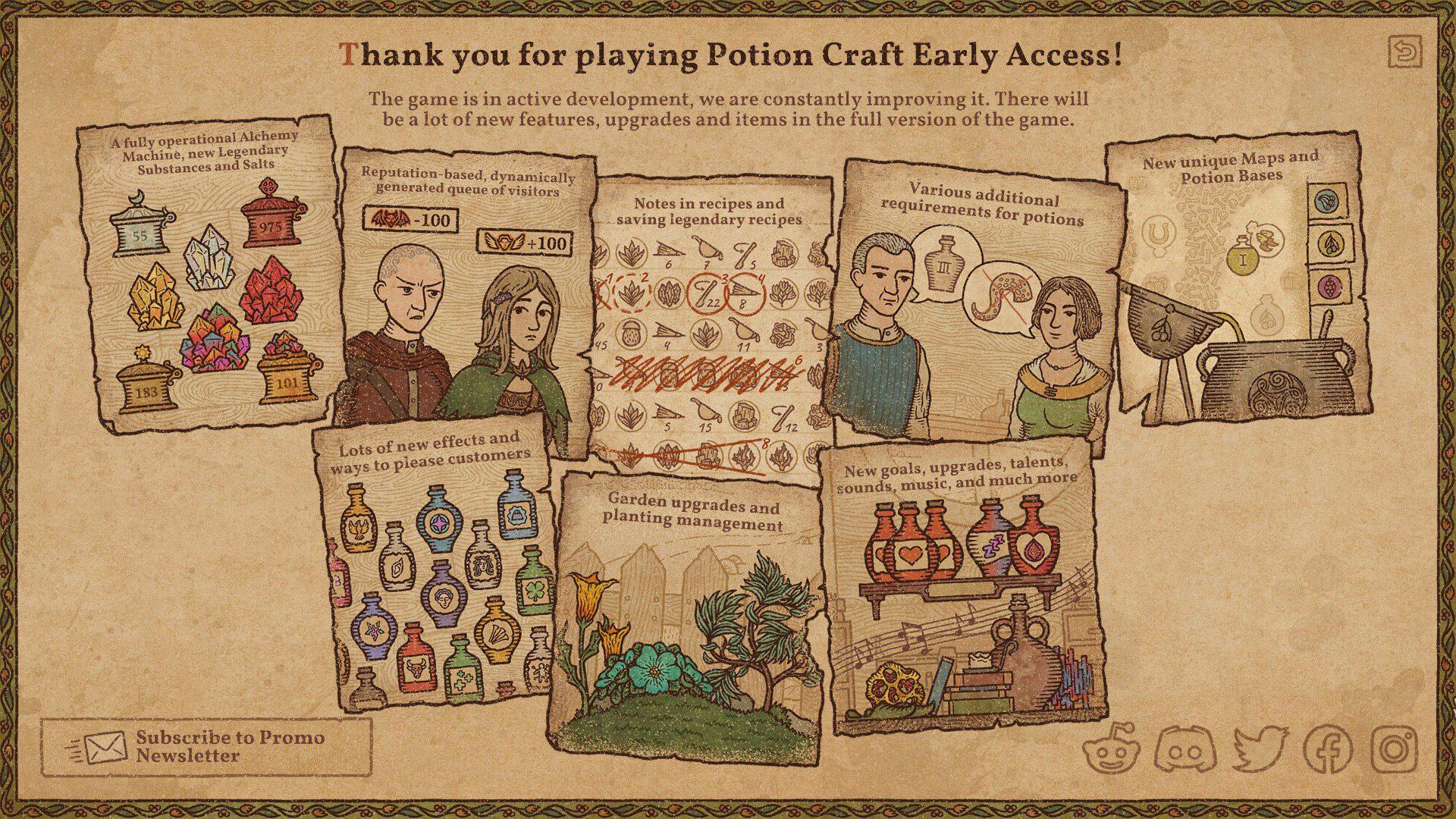 The future content roadmap for Potion Craft: Alchemist Simulator