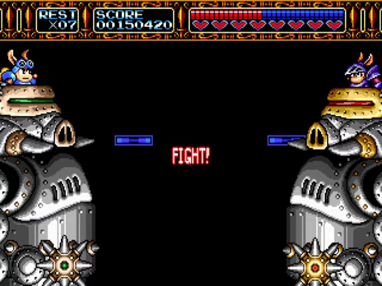 Rocket Knight Adventures Robot Fight