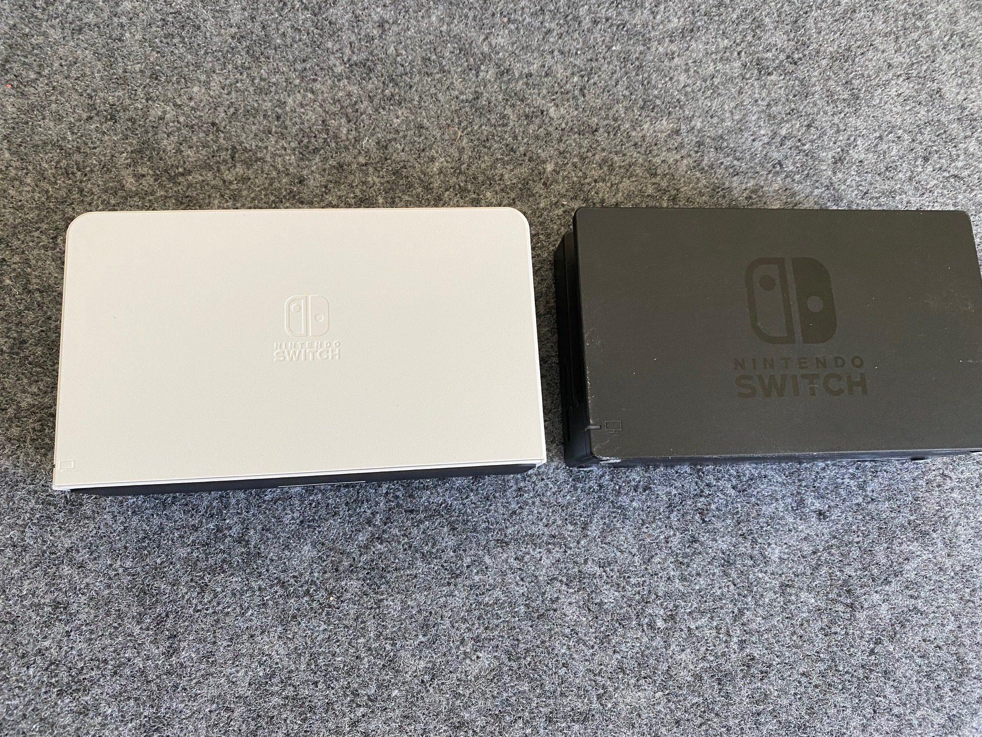The Switch OLED dock versus original Switch dock