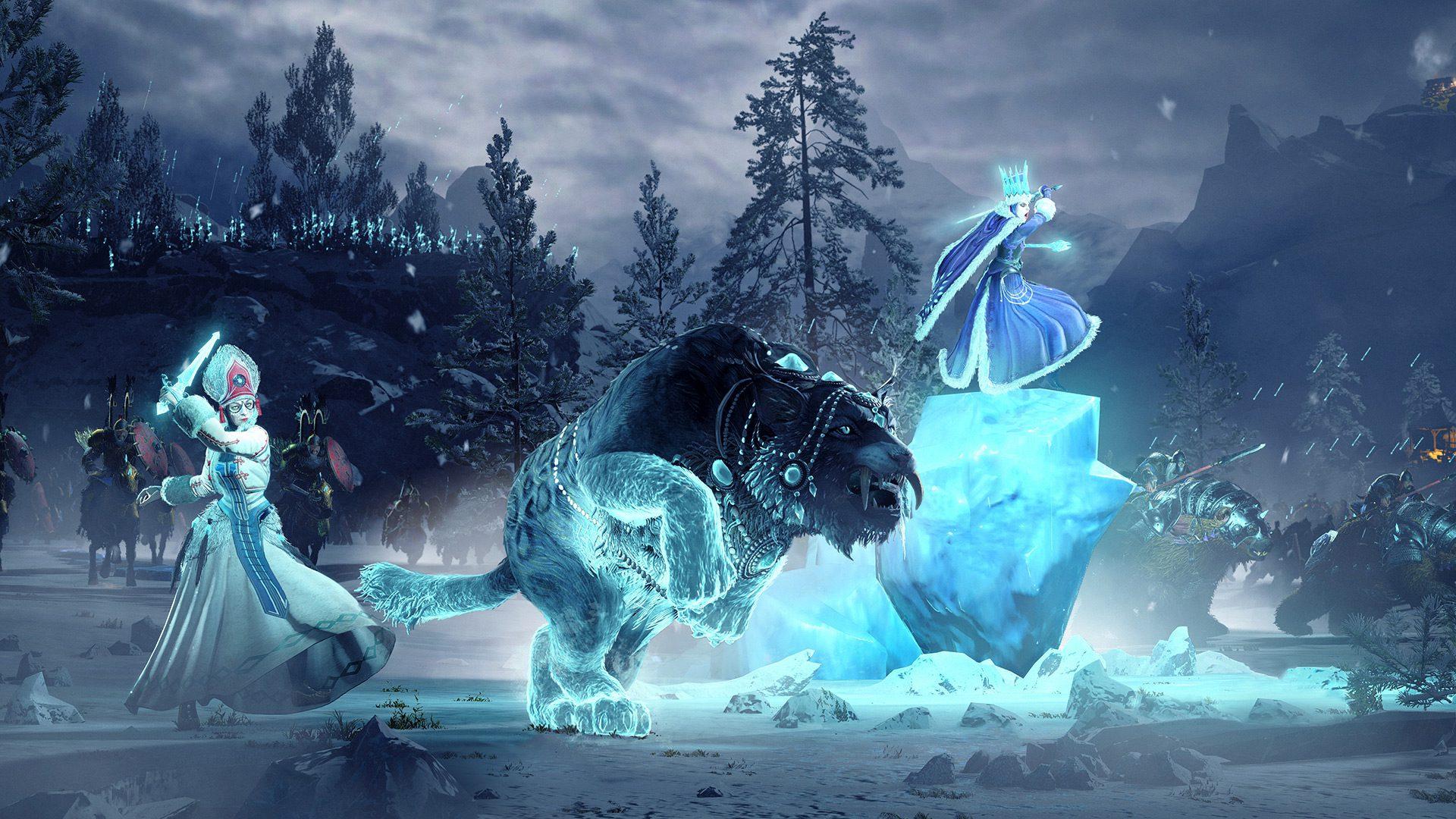 An icy battle in Total War: Warhammer III