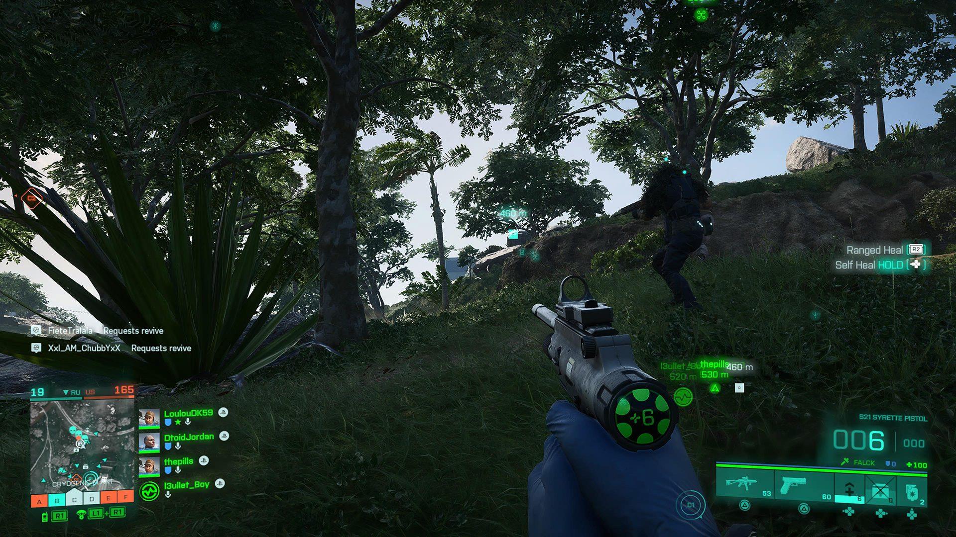 Battlefield 2042 open beta healing syrette pistol