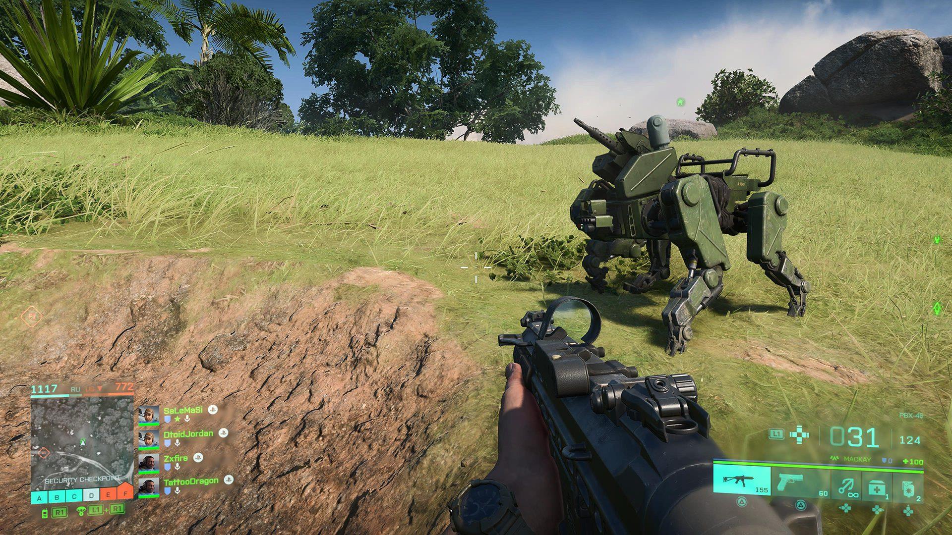 Battlefield 2042 open beta robot dog