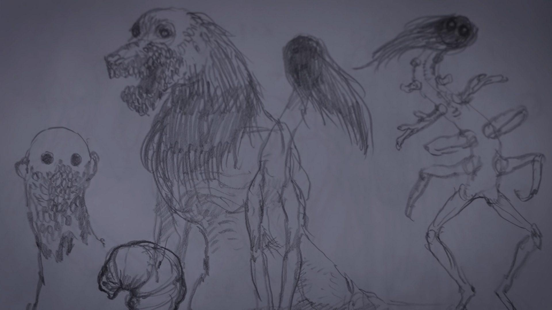 Bokeh Game Studio Miki Takahashi creature sketch