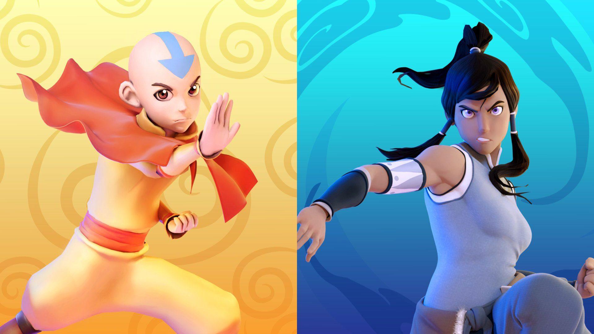 Nickelodeon All-Star Brawl Avatar Aang and Korra