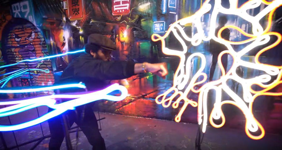 lost judgment mural neon